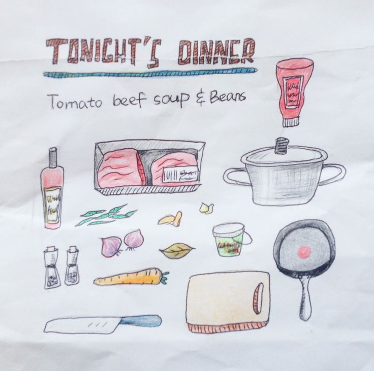 #recipe#doodle#pencil colour