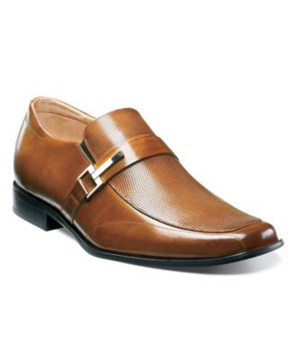 Stacy Adams Shoes, Beau Bit Perforated Slip On Loafers - Mens Loafers & Slip Ons - Macy's