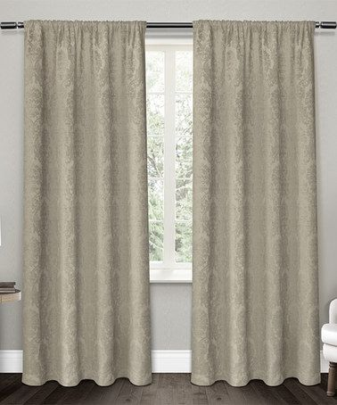 Taupe Window Curtain Panel - Set of Two #zulily #zulilyfinds