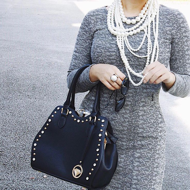 Traci Lynn Jewelry Alter Ego Necklace #Handbag #Pearls #OOTD #WorkLook #SundayLook