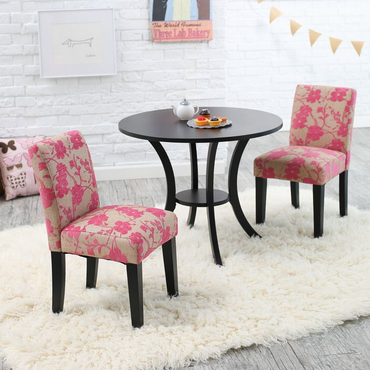 SOOOOO CUTE!  Classic Playtime Plum Garden Pedestal Table and Parsons Chairs Set - $249.98 @hayneedle