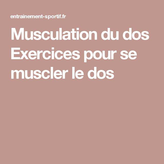 Musculation du dos Exercices pour se muscler le dos