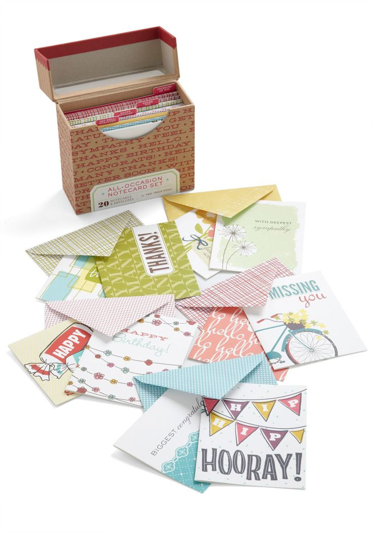 I got it! - All-Occasion Notecard Set, #ModCloth