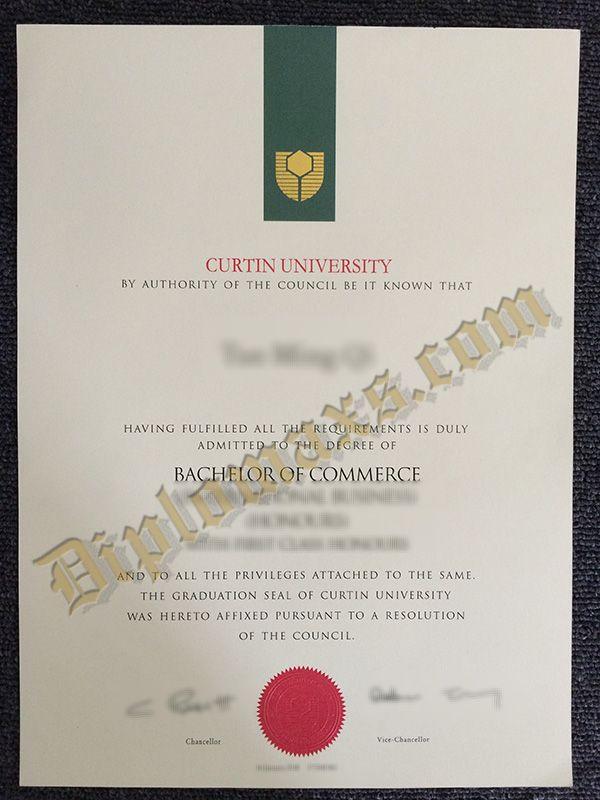 Whatsapp 8613266747007 Buy Curtin University Fake Diploma Fake