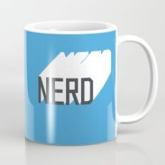 Retro Nerd Blue Mug