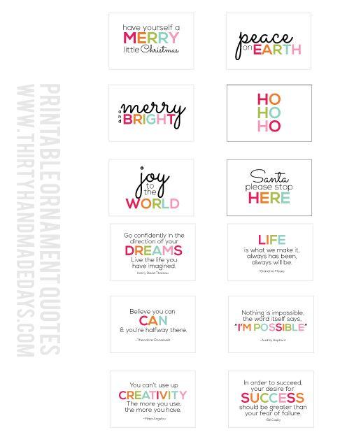 Free Printable Mini Quote Cards from www.thirtyhandmadedays.com