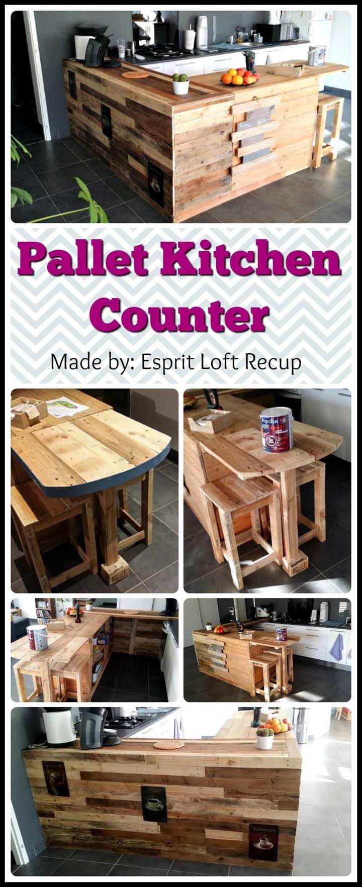 Best 25 pallet kitchen island ideas on pinterest pallet for Pallet kitchen bench