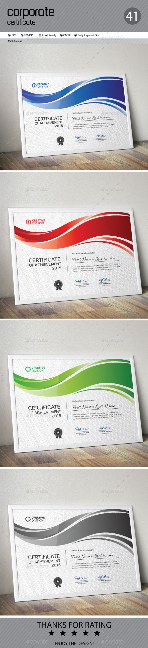 Best 25 certificate layout ideas on pinterest certificate certificate template vector eps download here httpgraphicriver xflitez Images