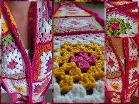 Haken en meer: Granny square sjaal gehaakt