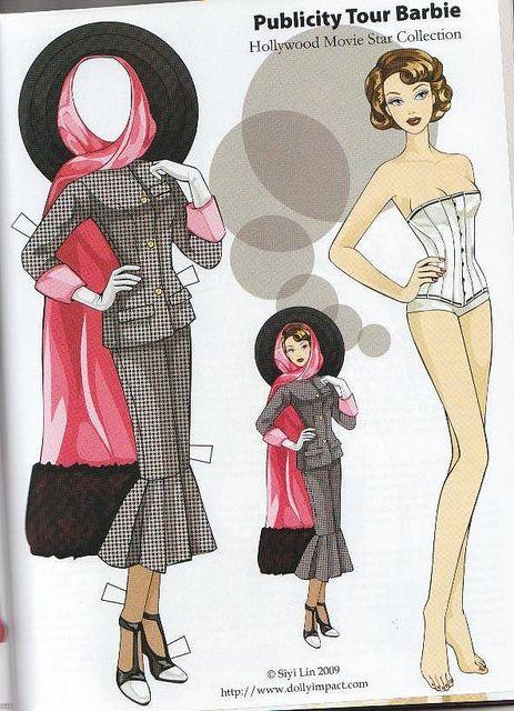 siyi lin paper dolls | Barbie Paper Dolls