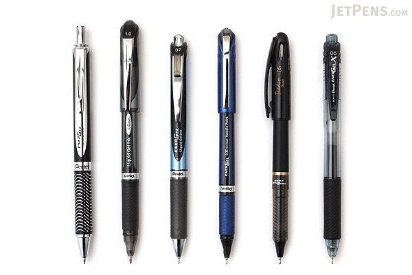 JetPens Pentel EnerGel Pen Sampler - Black - JETPENS JETPACK-054