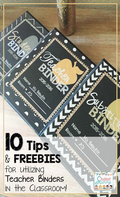 Teacher Binder - Tips & FREEBIES