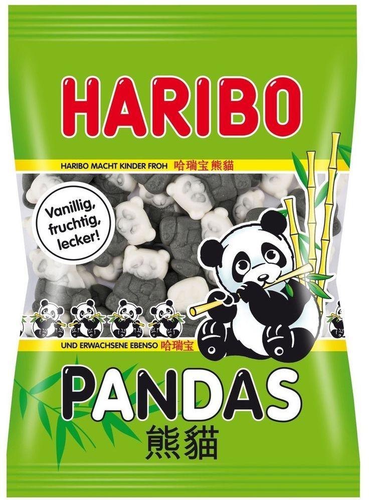 2 x Haribo Pandas Soft Gummi Liquorice Vanilla Candy Original German 200g/7.10oz #Haribo