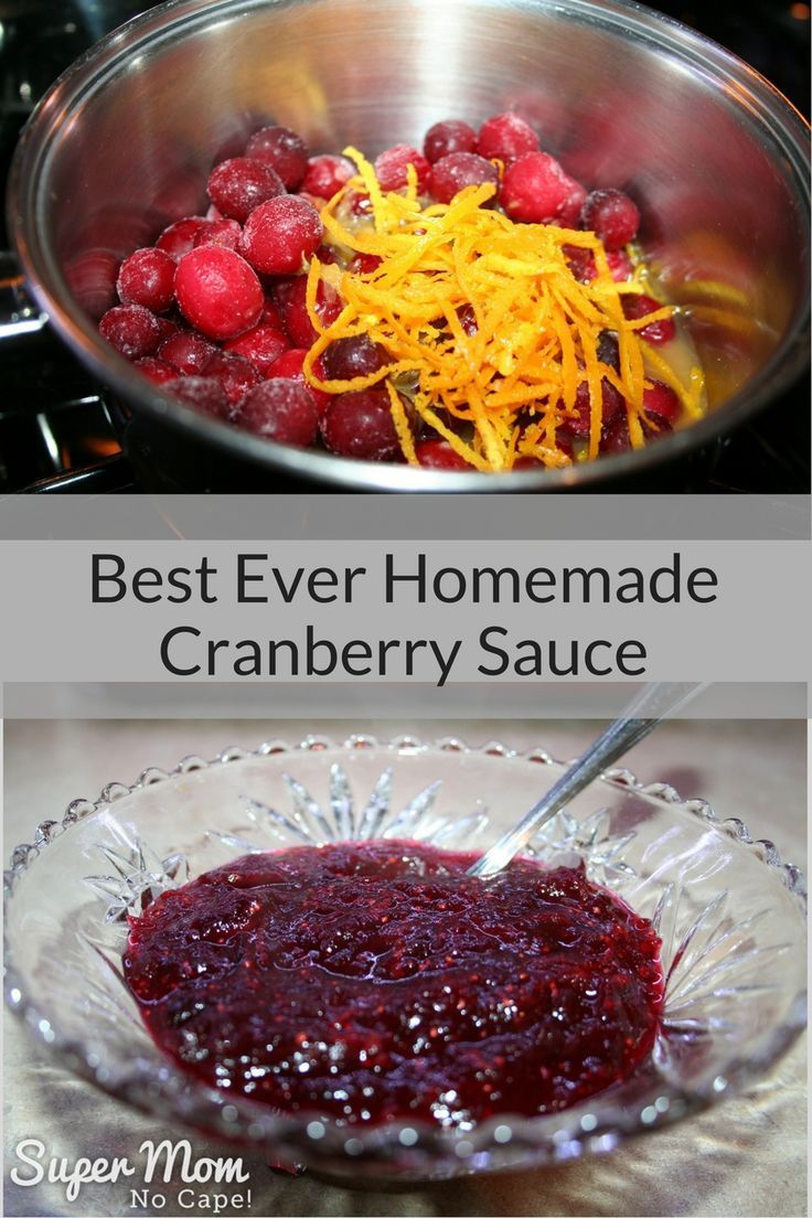 This Best Ever Homemade Cranberry Sauce is super simple to make and tastes so much better than ready made store bought! Includes instructions for how to can it to give as gifts.