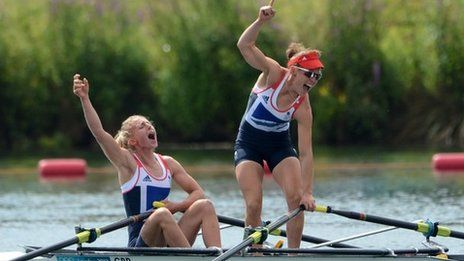 BBC Sport - London 2012 Olympics - Women's Double Sculls : Rowing