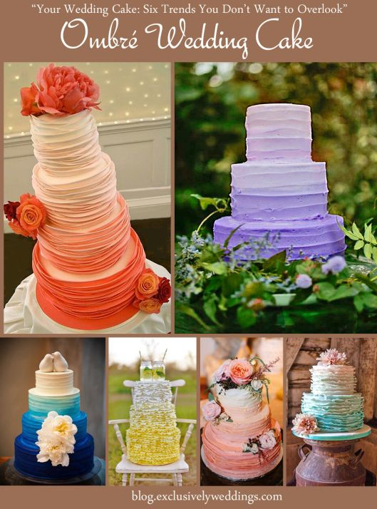 116 best exclusively weddings blog images on pinterest ombre wedding cake your wedding cake 6 trends you dont want junglespirit