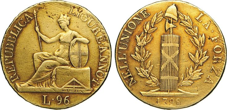 NumisBids: Numismatica Varesi s.a.s. Auction 65, Lot 401 : GENOVA - REPUBBLICA LIGURE (1798-1805) 96 Lire 1798 I. Pag. 1 ...