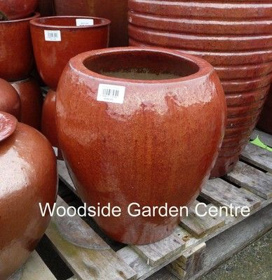 33 best Large Copper Red Glazed Garden Planters Vases and Pots ...