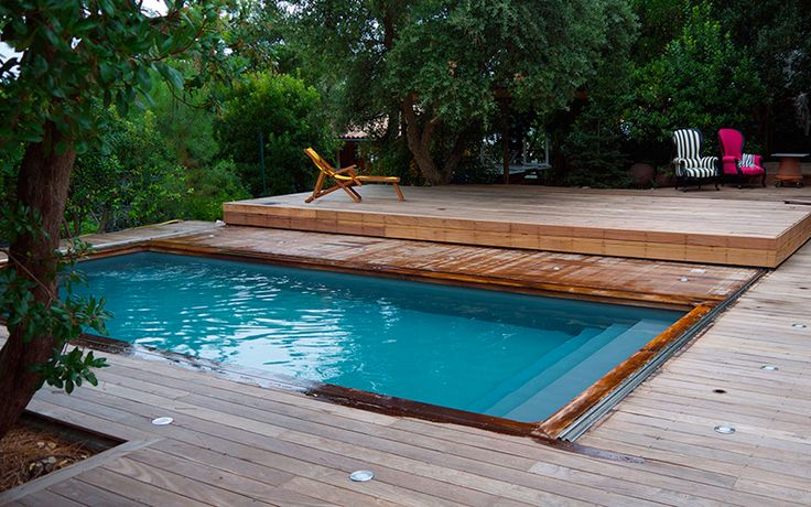Terrasse mobile piscine terrasse mobile en bois for Piscine bois exotique