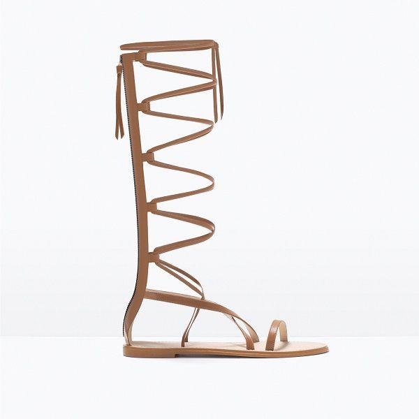 chaussure spartiate plate. Spartiate Montante Zara 6e9fbce63993