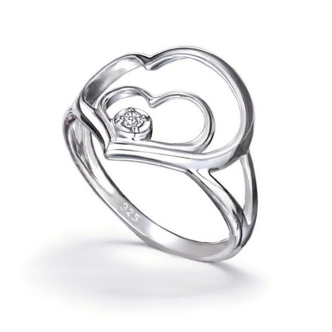 Say it with sterling!  Beautiful heart within heart design with a sparkling CZ accent gives a new meaning to #Avon #ring #bague #fashion #mode  http://bit.ly/1GB6X17