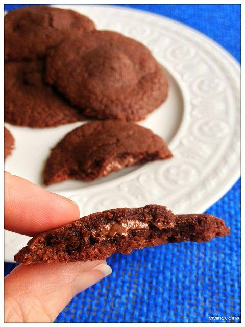 Vivi in cucina: Biscotti cuor di Nocciolata ( solo 3 ingredienti)