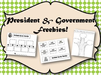 A fun way to study the presidents!   This includes: ~note taking sheet with book ideas ~George Washington Timeline {cut and paste} ~Abraham Lincoln Timeline {cut and paste} ~Three Branches of Government Tree {flip-up} ~Pictures to help you!  *Updated Feb 2016 with a Branches of Government Tree and the three branches labeled with an icon.