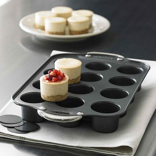 mini cheese cakes! I have a pan similar to this,but I haven't used it yet