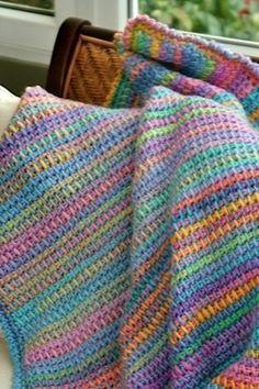 tunisian crochet blanket                                                                                                                                                      More