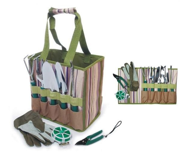 Garden tools carry bagA). Material:Stripe 600D polyester + 600D polyester B)…