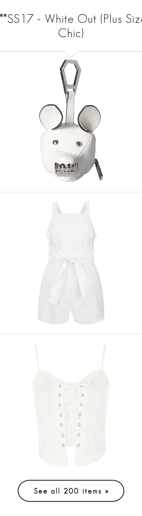 """""""***SS17 - White Out (Plus Size Chic)"""" by foolsuk ❤ liked on Polyvore featuring bags, wallets, handbags, shoulder bags, leather shoulder bag, shoulder strap handbags, leather crossbody purse, white leather shoulder bag, leather crossbody and intimates"""