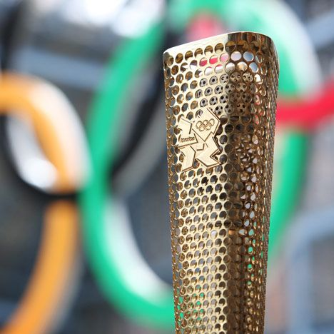 The London 2012 Olympic Torch. Great Design!