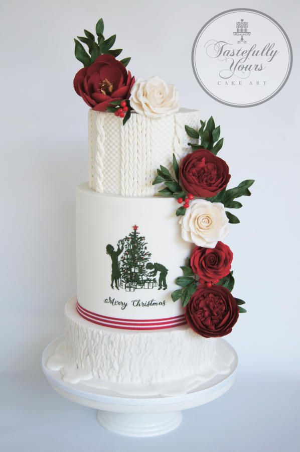 White Christmas by Marianne: Tastefully Yours Cake Art