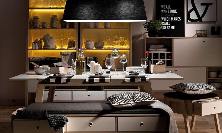 Kolekcija, įgyvendinanti svajones! ✨ Daili baldų išvaizda dera su funkcionaliais sprendimais, palengvinančiais savo erdvės kūrimą. 😉