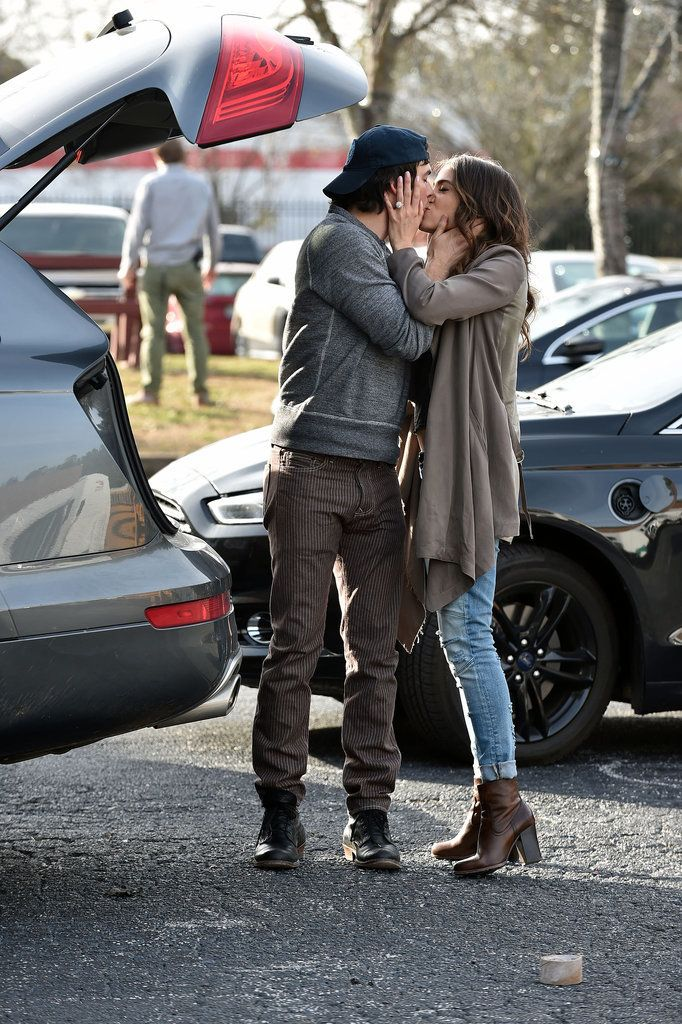 Nikki Reed and Ian Somerhalder pack on the PDA!