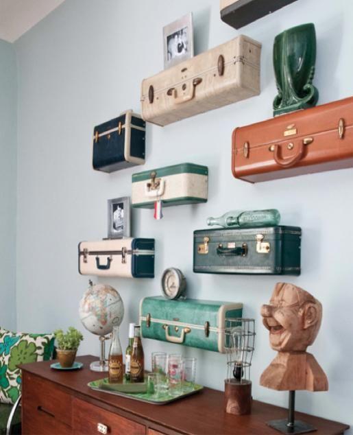 10 inspirerende ideeën voor het hergebruiken van een vintage koffer: http://www.dutchcowgirls.nl/offline/6453