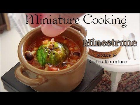 Mini Food #79-ミニチュア料理-『丸ごとキャベツのミネストローネ Miniature』 Tiny food (Edible) Miniature cooking - YouTube