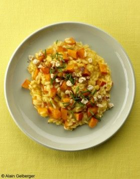 Risotto potimarron-noisettes
