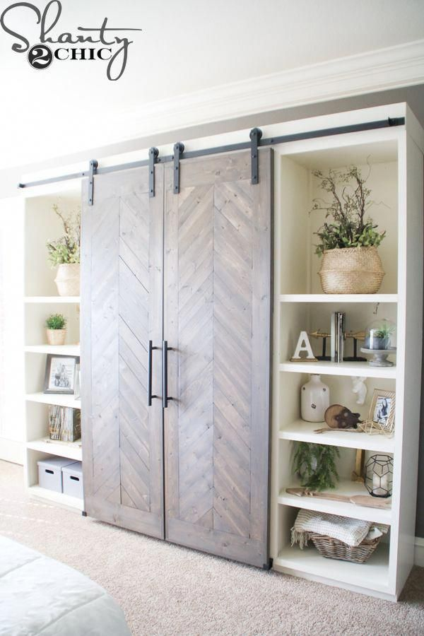 I Want So To Hide The Tv When Not In Use Johnnnnny Can You Make Something Like This For Me Diy Living Room Decor Diy Sliding Barn Door Barn Door Console