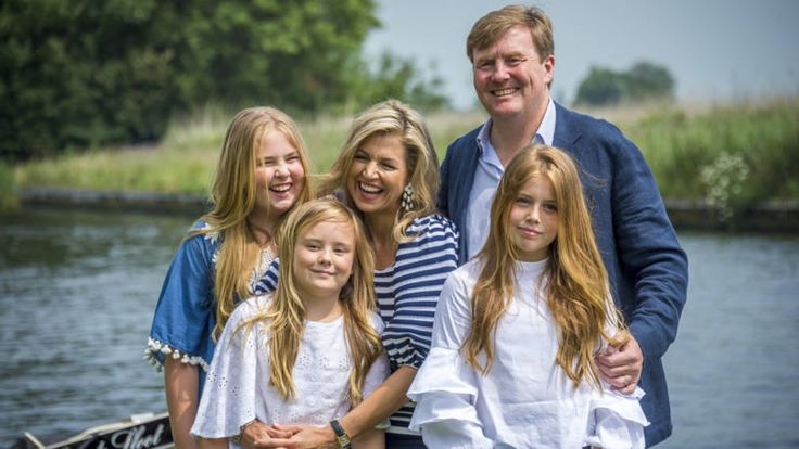 Dutch royal family including Their Majesties King Willem-Alexander I, Queen Maxima and their daughters Princess Amalia, The Princess of Orange, Princess Alexia and Princess Ariane post for the annual summer photo session in Kagerplassen. July 7, 2017