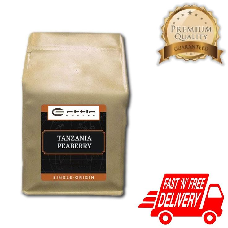 Best Tanzania Peaberry Fresh Roasted Ground Coffee Arabica Free Shipping 1LB Bag #EttieCoffee