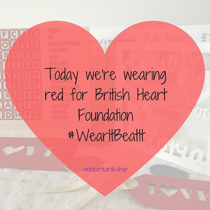 Wearing red for British Heart Foundation #wearitbeatit