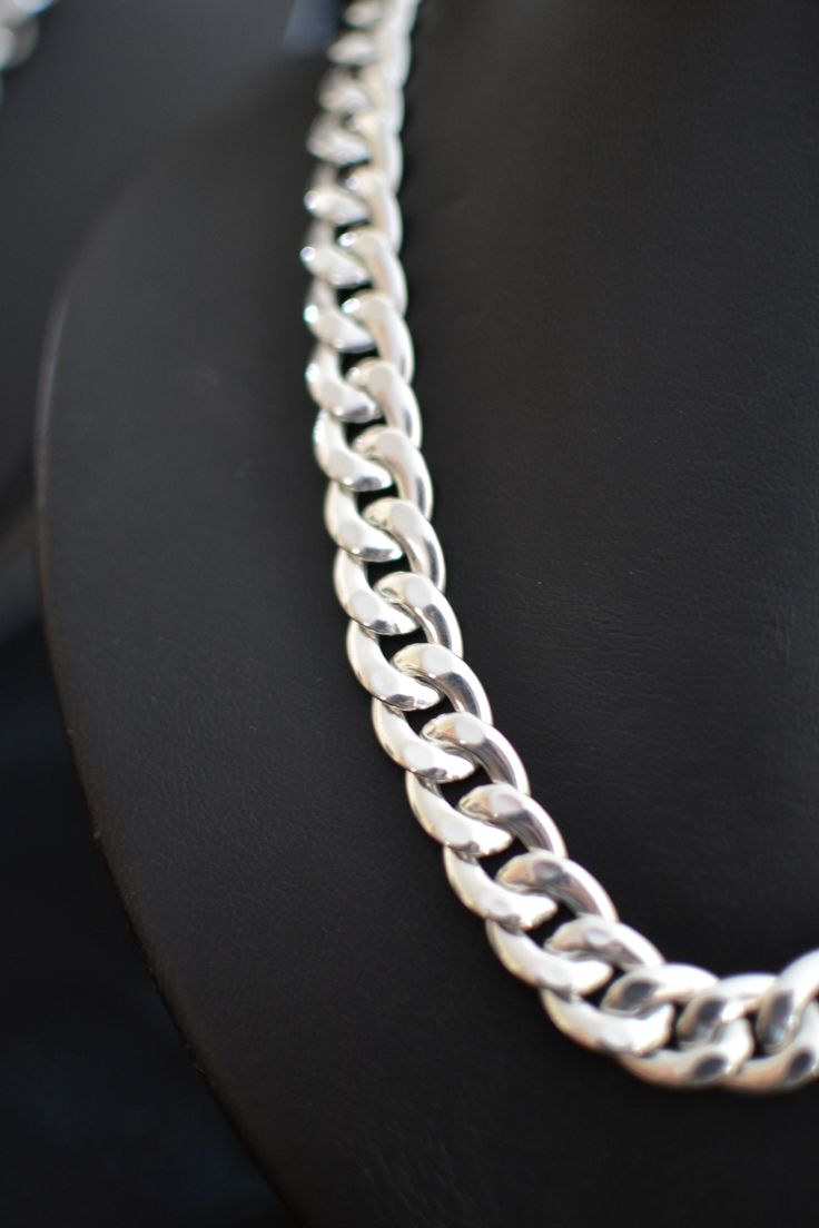 Large Curb Link Necklace - optional extra, matching bracelet.  Bracelet available as a stand alone item or as a set