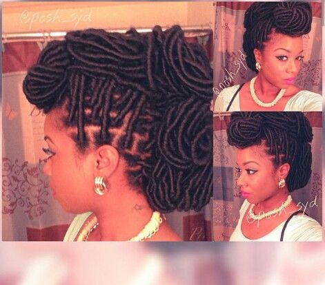 Faux Locs Updo Hair Amp Beauty That I Love Pinterest