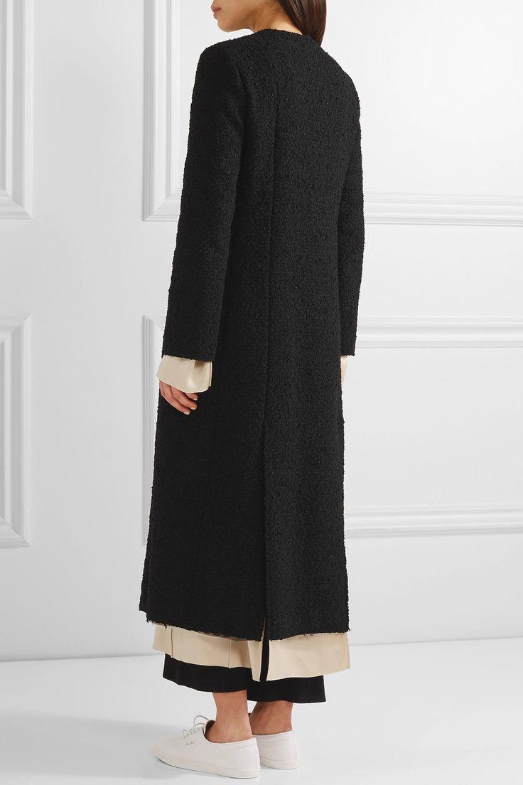 The Row | Amandla satin-trimmed bouclé coat | NET-A-PORTER.COM
