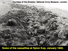 Some of the casualties at Spion Kop, January 1900