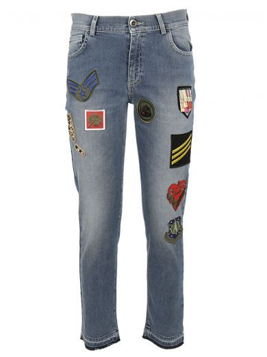 MR & MRS ITALY Mr & Mrs Italy Mr & Mrs Italy Embroidery Denim Jeans. #mrmrsitaly #cloth #https: