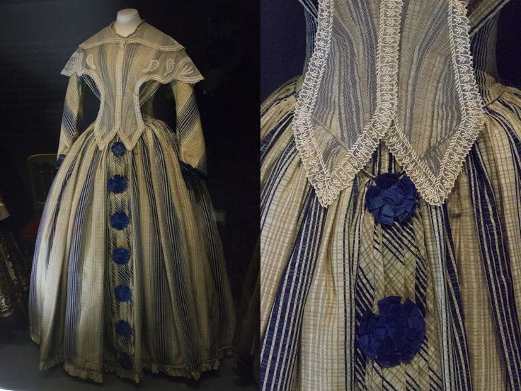 Early Victorian dress. Fashion museum Bath