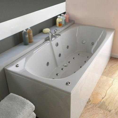 trojan algarve 23 jet whirlpool bath x 750this luxurious deep soaking double ended x - Whirlpool Bathtub