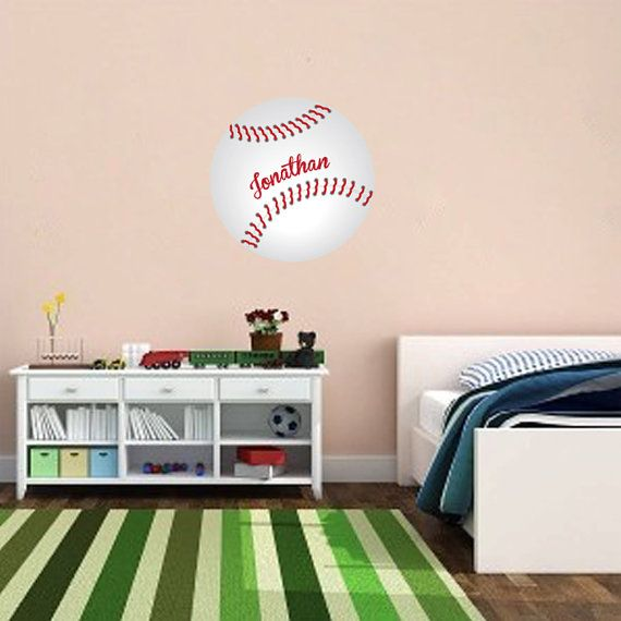 Baseball Wall Decal Custom Art By PrimeDecal On Etsy